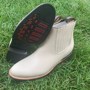 MEN'S BOTIN COWBOY SLIP ON ANKLE-ROUND BOOTS BONE